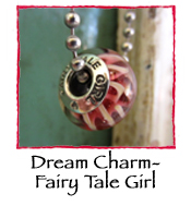 Glass Charm Bead- FairyTale Girl