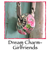 Glass Charm Bead- Girlfriends