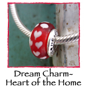Glass Charm Bead- Heart of the Home