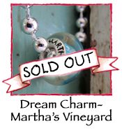 Glass Charm Bead- Martha's Vineyard