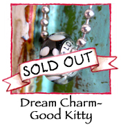 Glass Charm Bead- Kitty Love