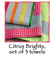 Citrus Brights, set of 3 towels