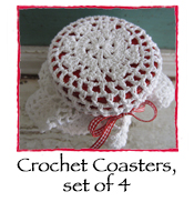 Crochet Coasters, set of 4