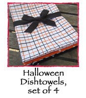 Halloween Dishtowels, set of 4
