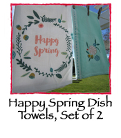 Happy Spring Dishtowels, Set of 2