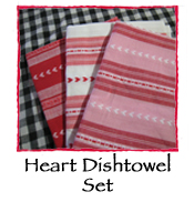 Heart Dishtowel Set of 3