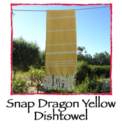 Snap Dragon Yellow Dishtowel