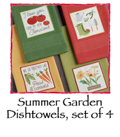 Summer Garden Dishtowels, set of 4