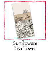 Sunflowers Tea Towel