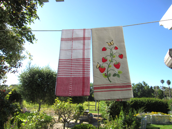 Strawberry Patch Dishtowels, Set of 2