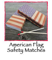 American Flag Safety Matches
