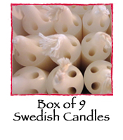 Box of 9 Swedish Candles