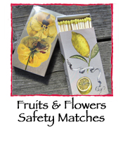 Fruits & Flowers Safety Matches