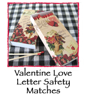 Valentine Love Letter Safety Matches
