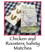 Chicken and Roosters Safety Matches
