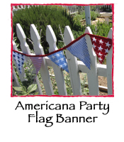 Americana Party Flag Banner
