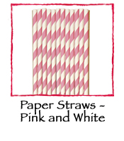 Paper Straws - Pink and White