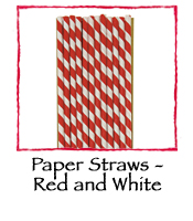 Paper Straws - Red and White
