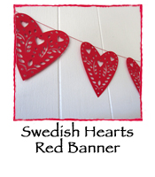 Swedish Hearts RED Banner