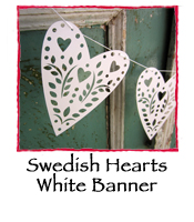 Swedish Hearts White Banner