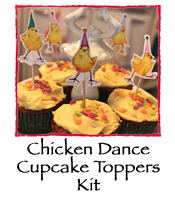Chicken Dance Cupcake Kit