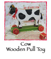 Cow Wooden Pull Toy