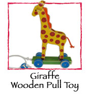 Giraffe Wooden Pull Toy