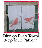 Birdies Applique Pattern