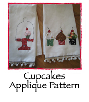 Cupcakes Applique Pattern