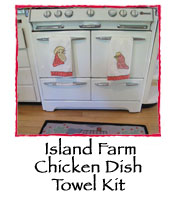 Island Farm Chicken Dish Towel Kit