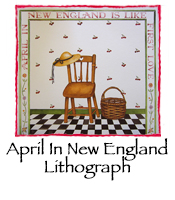 April In New England Lithograph