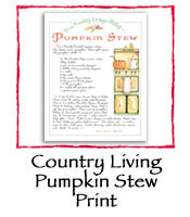 Country Living Pumpkin Stew Print