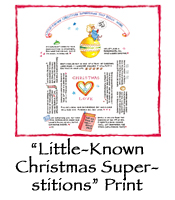 """Little-Known Christmas Superstitions"" Print"