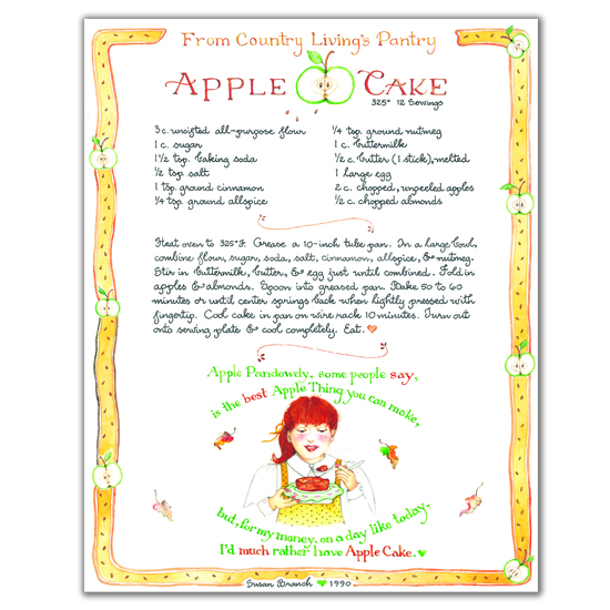 Country Living Apple Cake Print