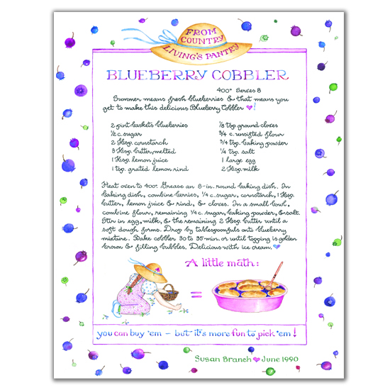 Country Living Blueberry Cobbler Print