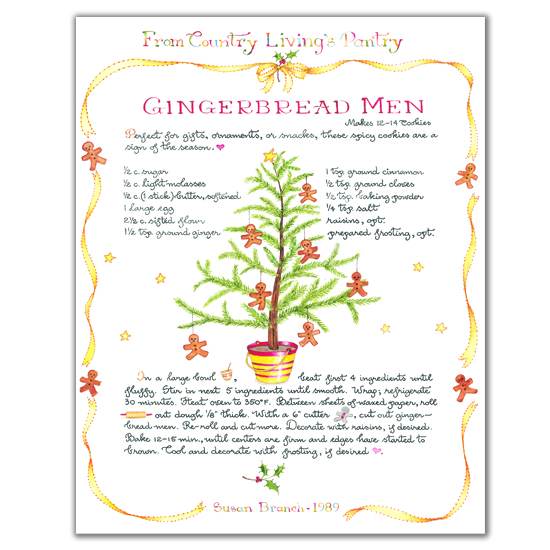 Country Living Gingerbread Men Print