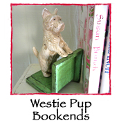 Westie Pup Bookends