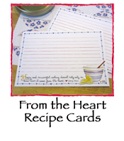 From the Heart Recipe Cards