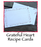 Grateful Heart Recipe Cards