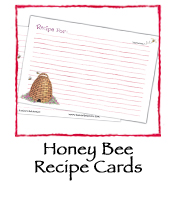 Honey Bee Recipe Cards