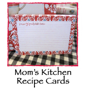 Mom's Kitchen Recipe Cards