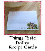 Things Taste Better Recipe Cards