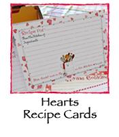 Hearts Recipe Cards