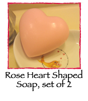 Rose Heart Shaped Soap, set of 2