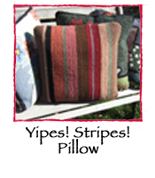 Yipes! Stripes! Pillow