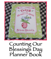 Counting Our Blessings Day Planner Book