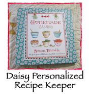Daisy Personalized Recipe Keeper