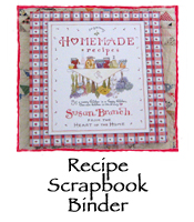 Red Heart Recipe Scrapbook Binder