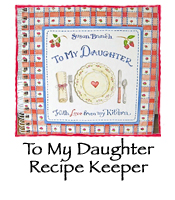 To My Daughter Recipe Keeper (Red Plaid)