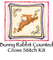 Bunny Rabbit Counted Cross Stitch Kit